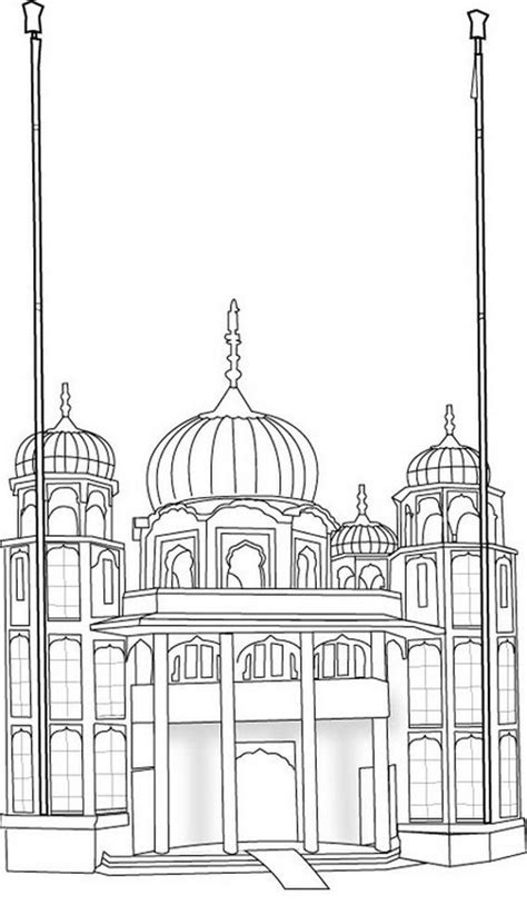 gurdwara colouring sheet  images coloring pages coloring sheets colorful drawings
