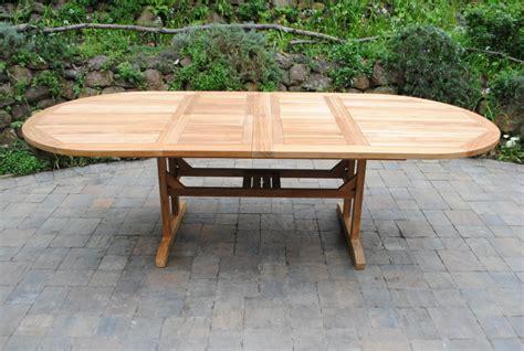 oval double extension table paradise teak