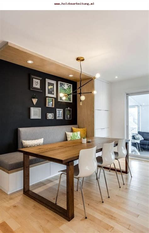 cool transitional mid century modern dining area