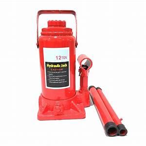 12 Ton High Lift Hydraulic Double Ram Bottle Jack Heavy
