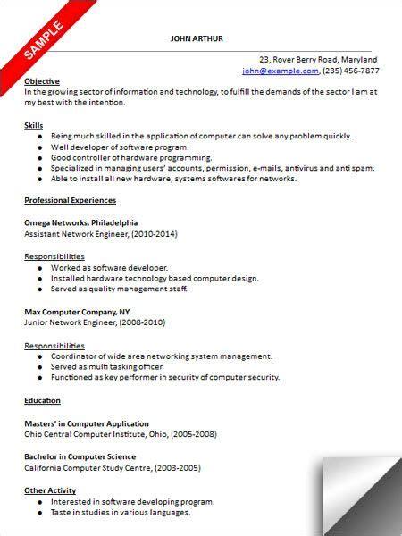 network engineer resume sle resume exles