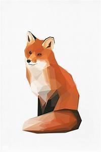 This artist is amazing. // Geometric illustration Fox ...