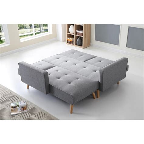 canape convertible reversible d angle scandinave canapé d 39 angle réversible convertible gris