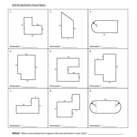 area and perimeter of composite figures worksheet the best