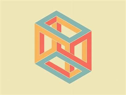 Cube Impossible Penrose Shapes Triangle Illusion Geometric