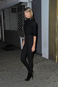 Sweater turtleneck taylor swift all black everything denim boots top fall outfits shoes ...