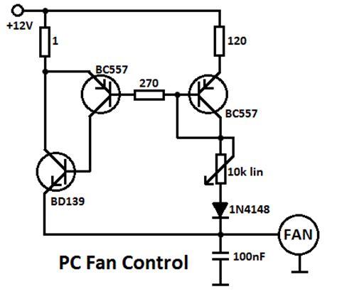 Pc Cooling Fan Wiring Diagram by Processor Fan Controller Circuit