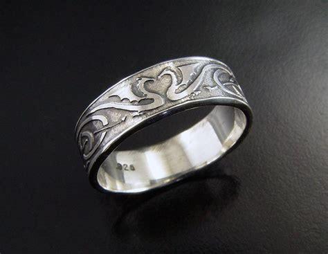 man s dragon heart wedding ring sterling silver celtic