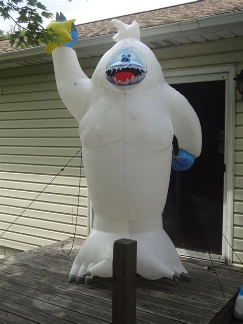 gemmy airblown inflatable ft bumble abominable snowman
