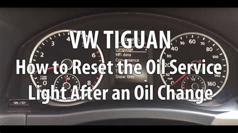 Vw/volkswagen Tiguan How To Reset The Oil Service Light