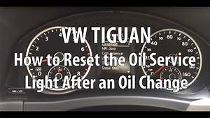 Vw  Volkswagen Tiguan How To Reset The Oil Service Light