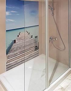 Wasserfeste Wandverkleidung Bad : renovierungssysteme dusche platten statt fliesen ikz ~ Frokenaadalensverden.com Haus und Dekorationen
