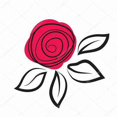 Abstract Rose Flower Vector Illustration Mcherevan Depositphotos