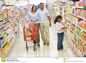 Family Grocery Shopping Stock Image - Image: 5097391