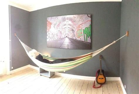 how to hang a hammock indoors without drilling indoor hammock wall mount