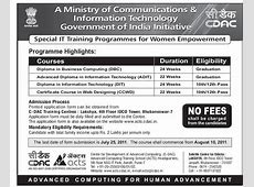 Odisha HRD » CDAC offers free courses for women with