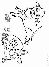 Easter Pages Coloring Lamb Colouring Sheet Getcoloringpages Credit Larger sketch template