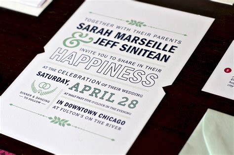 Sarah + Jeff's Modern Wedding Invitations and Save the Dates