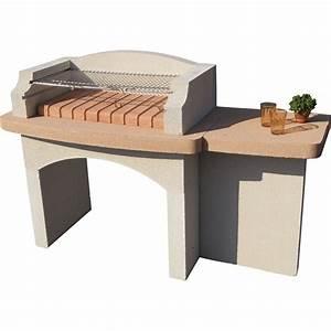 Pierre D Argent Leroy Merlin : barbecue en b ton blanc lub ron x x cm ~ Dailycaller-alerts.com Idées de Décoration