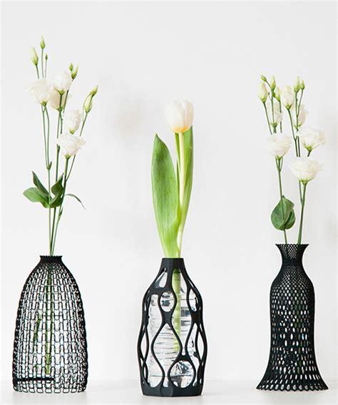 printed vases turn  recycled water bottles