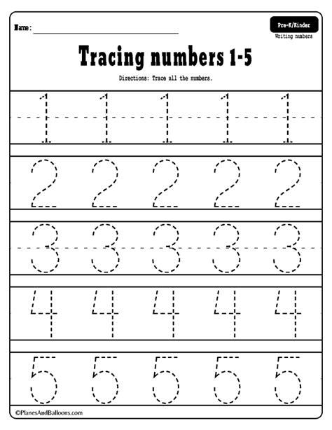 numbers   tracing worksheets  printable