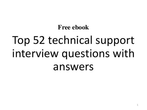 it help desk interview questions top 10 technical support interview questions and answers