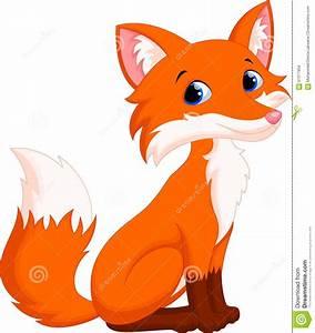 Cute Fox Cartoon Stock Illustration - Image: 61377954