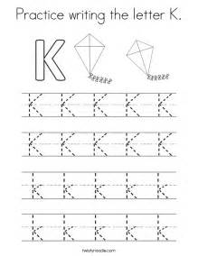 letter k tracing practice writing the letter k coloring page twisty noodle