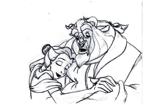 Beauty And The Beast Sketch By Curic On Deviantart