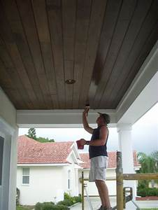 Stained Porch Ceiling