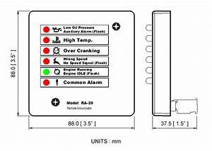 Remote Annunciator Module For Genset Controller