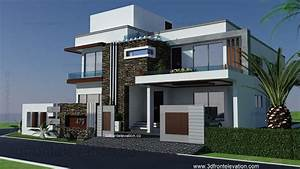 1 Kanal Modern House Plan- 3d Front Elevation- Design- 479