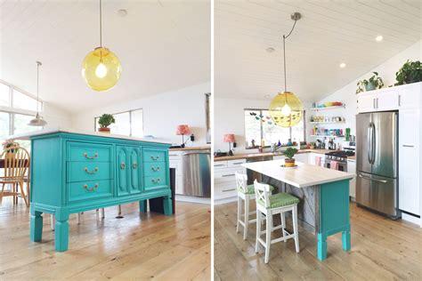 transformed vintage dresser  kitchen island nesting gypsy