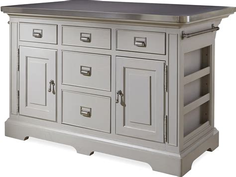 kitchen island stainless top the kitchen island with stainless wrapped metal top by
