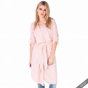 Leichter Morgenmantel Damen : damen leichter sommer mantel wasserfallkragen knielang trenchcoat cardigan ebay ~ Watch28wear.com Haus und Dekorationen