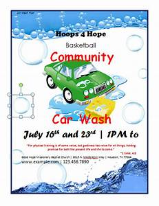 7 free car wash brochure flyer templates bates on design With car wash poster template free