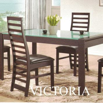 glass top dining table set products  wanelo