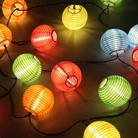 solar cotton string lights patio