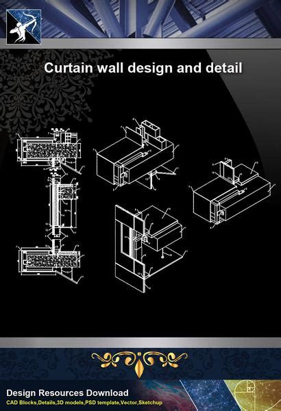 wall detailscurtain wall design  detail  autocad dwg files