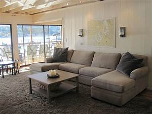 living room u shaped brown couch with chaise lounge for With what shape coffee table with sectional sofa