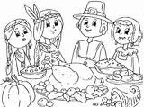 Thanksgiving Coloring Pages Preschool Feast Printable Kindergarten Crafts Worksheets Toddler Teachers Lots Students sketch template