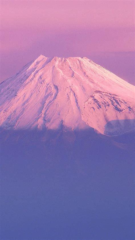 fujiyama japanese mountain purple sky iphone