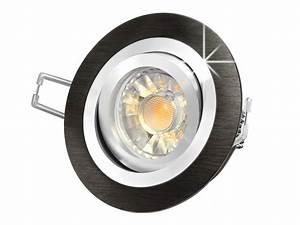 Einbaustrahler Mit Bewegungsmelder : rf 2 led einbaustrahler leuchte rund alu schwarz geb rstet 5w smd warmwei dimmbar gu10 230v ~ Watch28wear.com Haus und Dekorationen