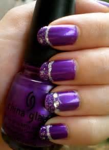 Purple nail polish designs on cute professional toe