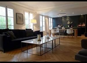 Parquet Noirci Par L Humidité : pour le ton du parquet miel pour l 39 id e du marbre gris ~ Premium-room.com Idées de Décoration