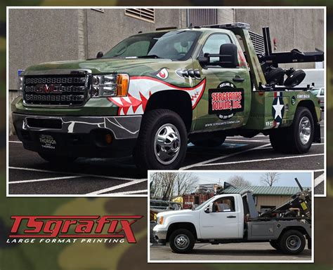 this wrap courtesy of ts grafix is a prime exle of how you can take an ordinary tow truck