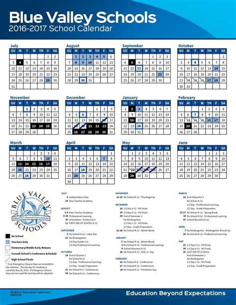 blue valley school district calendar qualads