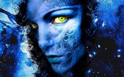 Blue Face Wallpapers Wallpaper Cave
