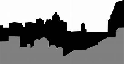 Silhouette Middle Cityscape Eastern Clipart East Skyline