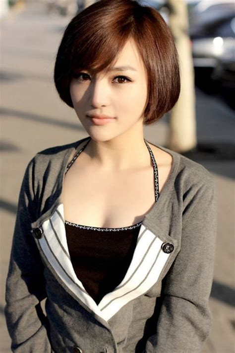 cute short haircuts  asian girls  chic short